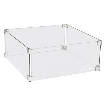 Glasombouw vierkant voor tafel of zuil