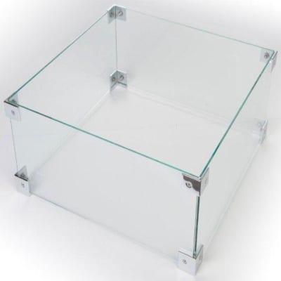 Glazen ombouw rechthoek klein