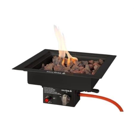 Inbouwbrander 40 cm x 40 cm zwart (Limited edition!)